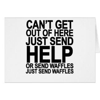 Send Waffles T-Shirt png Card