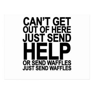 Send Waffles T-Shirt png Post Card