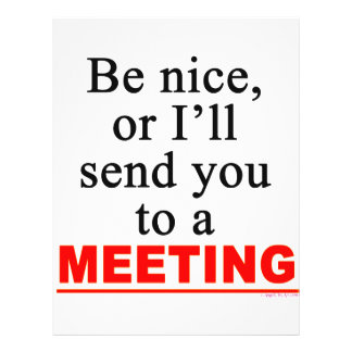 Send You To A Meeting Sarcastic Office Humor Custom Flyer