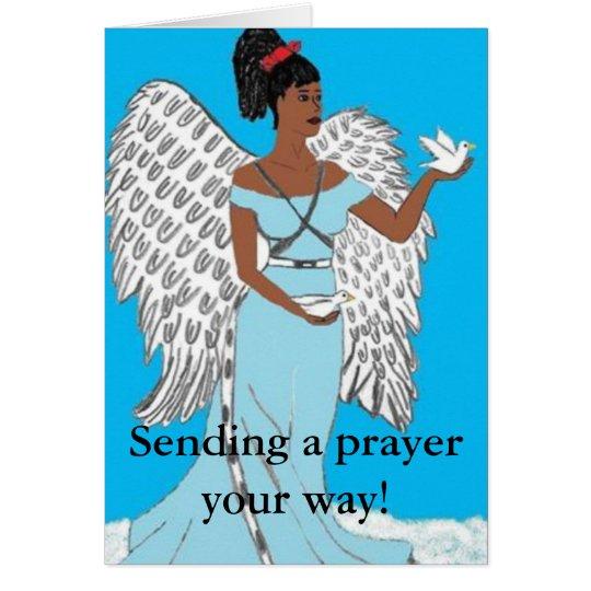 Sending a prayer Card