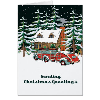 Sending Christmas Greetings Card