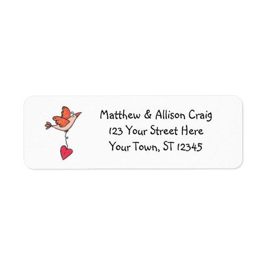 Sending Love Return Address Label