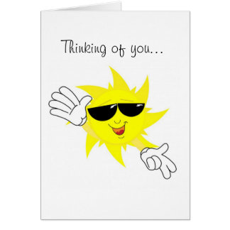 Sending Some Sunshine Thinking of You Card