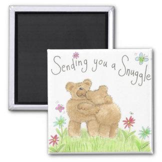 Sending you a cuddle fridge magnet