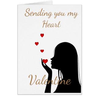 SENDING YOU MY HEART VALENTINE CARD