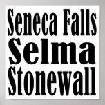 Seneca Falls Selma Stonewall Poster