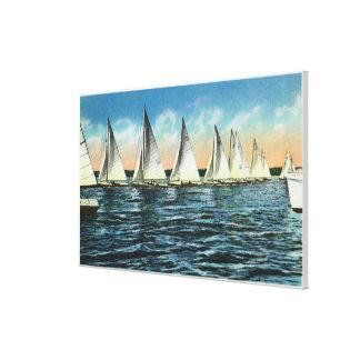 Seneca Yacht Club Stretched Canvas Prints