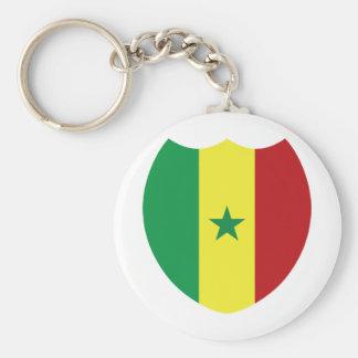 Senegal Basic Round Button Key Ring