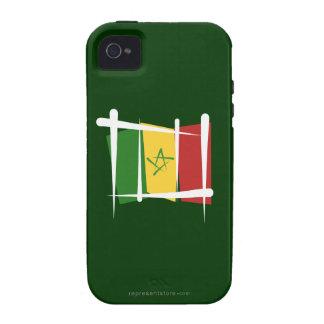 Senegal Brush Flag Case-Mate iPhone 4 Covers