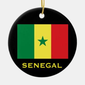 Senegal Circular Christmas Ornament