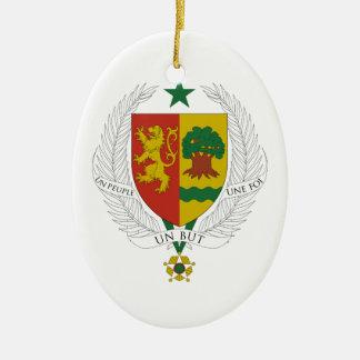Senegal Coat of Arms Christmas Ornament