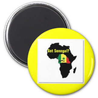 Senegal Coat of arms T-shirt And Etc 6 Cm Round Magnet