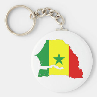 senegal country flag map shape silhouette basic round button key ring