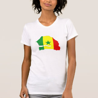senegal country flag map shape silhouette T-Shirt
