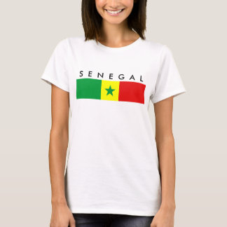 senegal country flag nation symbol text T-Shirt