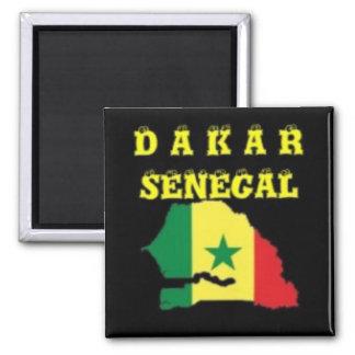 SENEGAL (DAKAR)  MAP T-SHIRT AND ETC SQUARE MAGNET