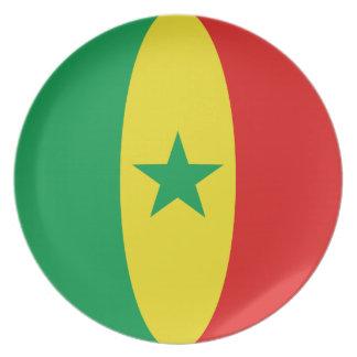 Senegal Fisheye Flag Plate