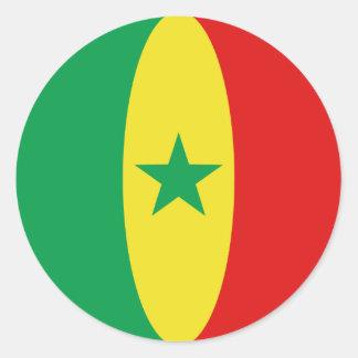 Senegal Fisheye Flag Sticker