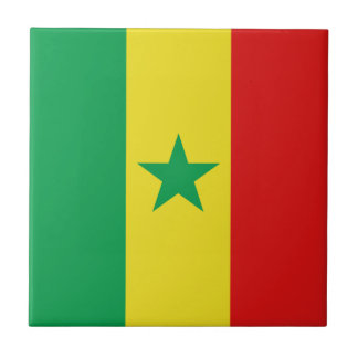 Senegal Flag Ceramic Tile