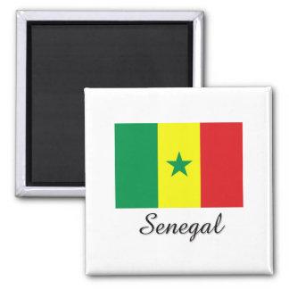 Senegal Flag Design Magnet
