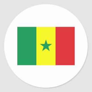 Senegal FLAG International Classic Round Sticker
