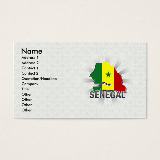 Senegal Flag Map 2.0 Business Card