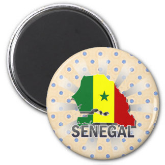 Senegal Flag Map 2.0 Magnet
