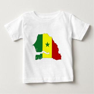 Senegal flag map baby T-Shirt