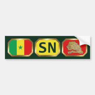 Senegal Flag Map Code Bumper Sticker