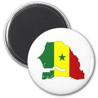 Senegal Flag Map full size 6 Cm Round Magnet