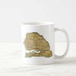 Senegal Flag ~ Map Mug