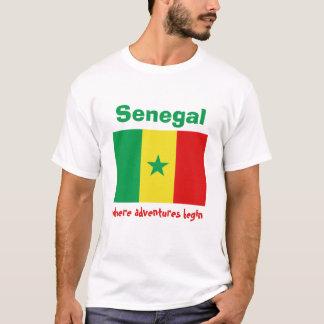 Senegal Flag + Map + Text T-Shirt