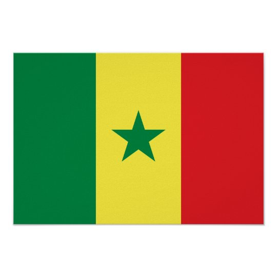 Senegal Flag Poster