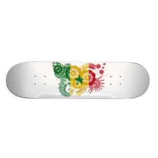 Senegal Flag Skate Board