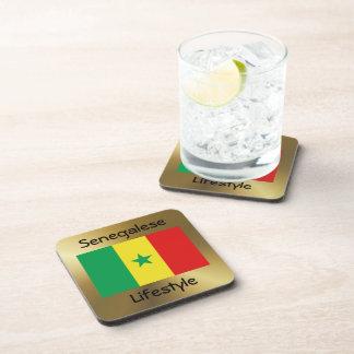 Senegal Flag+Text Coaster