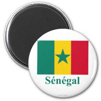 Senegal Flag with Name in French Magnet