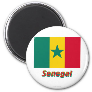 Senegal Flag with Name Magnet