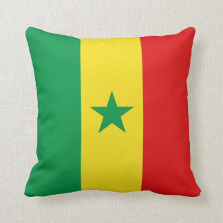 Senegal Flag x Flag Pillow
