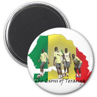 Senegal Futbol 6 Cm Round Magnet