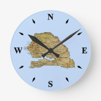 Senegal Map Clock