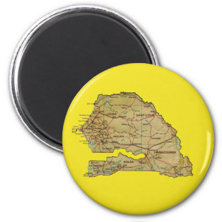 Senegal Map Magnet