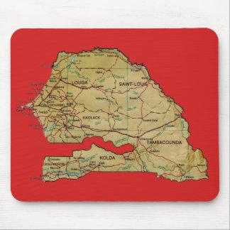 Senegal Map Mousepad