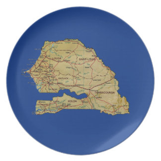 Senegal Map Plate