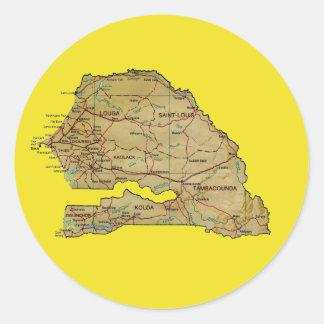 Senegal Map Sticker