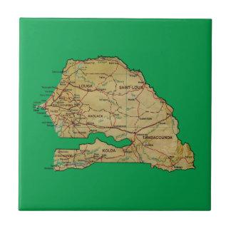 Senegal Map Tile