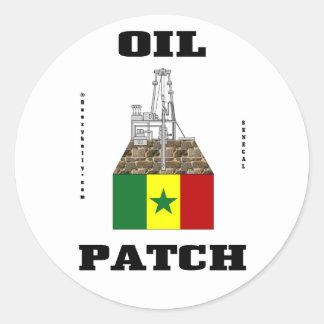 Senegal Oil Patch,Oil Field Sticker,Oil,Gas Classic Round Sticker