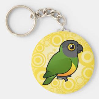 Senegal Parrot Basic Round Button Key Ring