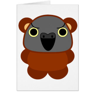 Senegal Parrot in bear costume / cosplay Halloween Card