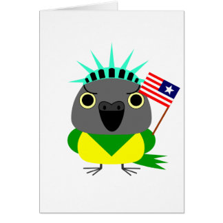 Senegal parrot USA American 4th of July Card