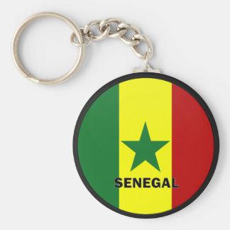 Senegal Roundel quality Flag Basic Round Button Key Ring